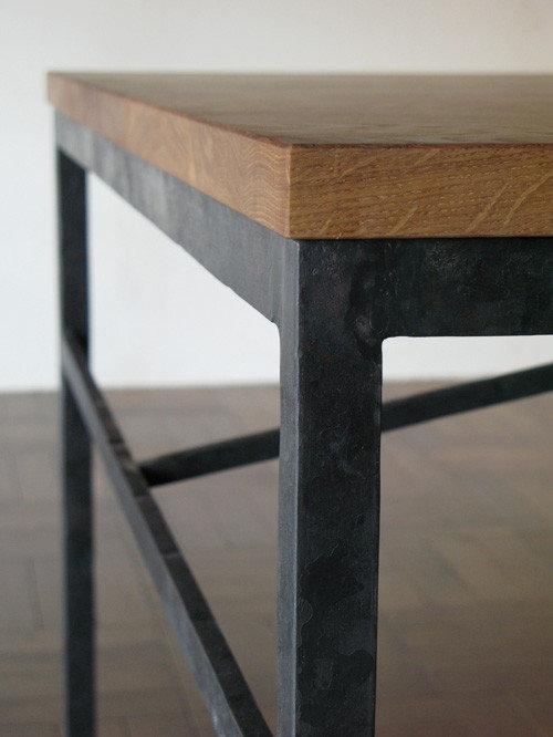 角棒のテーブル - ダイニングテーブル