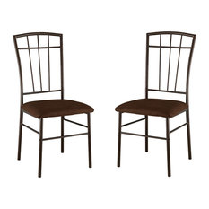 Stafford Dining Chairs Cherry Metal Frame & Microfiber Seats