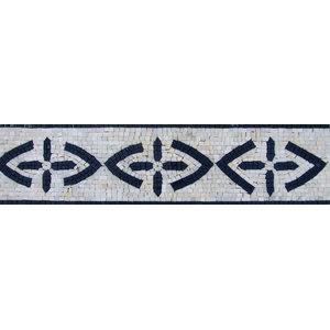 "Border Marble Pattern Mosaic, 6""x12"""