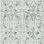 InHome - Chelsea Antique White Faux Metallic Tiles - Add a vintage charm to your kitchen with this peel and stick backsplash. Its antique off-white hue adds a realistic touch to its tile pattern. Chelsea Antique White Peel & Stick Tin Tiles contains 4 pieces on 4 sheets that measure 10 x 10 inches. This product measures 20-in x 20-in when assembled when assembled. Vintage tin tile backsplash; Peel and stick, repositionable; Safe for walls: always removable and leaves no sticky residue; Sticks to most smooth, flat surfaces; Contains 4 pieces; Each piece measures 10-in x 10-in;Comes on four 10-in x 10-in sheets;A stove without a backing needs 15-in (38-cm) of space or more above range to avoid exposure of product to heat.