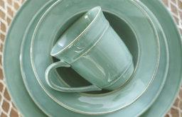 Cambria Dinnerware, Turquoise Blue
