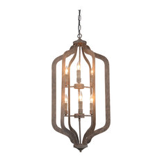 Esther 6-Light Iron Chandelier Medium by Kosas Home