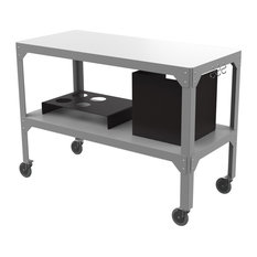 Hegoa Outdoor Serving Trolley, Grey and Matte Black
