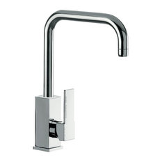 Brass Mixer With Single Side Lever and High Movable U-Spout