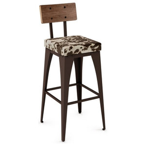 Non Swivel Stool With Upholstered Seat, Bar Seat