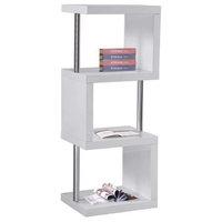 Modern 3-Shelf Bookcase, White