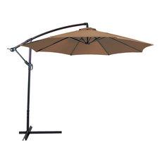 Outdoor Patio Umbrella With 10' Aluminum Cantilever, Beige