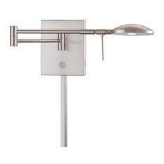 George Kovacs P4338-084 Brushed Nickel Jelly Bean LED Swing Arm Wall Sconce