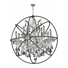 Foucault's Orb Chandelier 13-Light, Clear Crystal