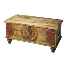 Butler Specialty Company - Butler Mesa Carved Wood Trunk Cocktail Table - Coffee  Tables
