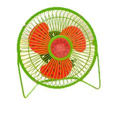 Desktop Ultra-Quiet and Creative Mini Cute Portable Usb Fan, Green Watermelon