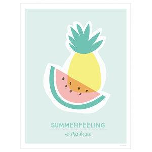 """Summerfeeling"" Decorative Print, 30x40 cm"