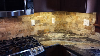Kitchen Back Splash with 3x6 Stone
