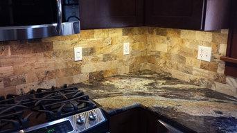 Kitchen Back Splash with 3x6 Stone