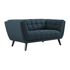 ALAVAR UPHOLSTERED FABRIC LOVE SEAT/BLUE