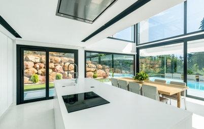 Casas Houzz: Un chalé amplio y luminoso de estilo contemporáneo