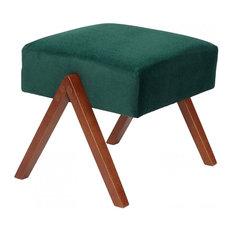 Retrostar Footstool, Green
