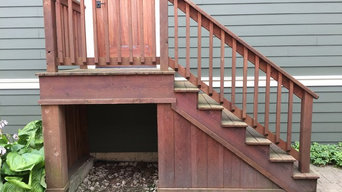 Side deck/stairs and side door re-stain