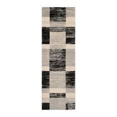 "Safavieh Retro Collection RET2692 Rug, Black/Light Grey, 2'3"" X 7'"