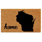 """Calloway Mills - Wisconsin Doormat, 24""""x36"""" - Made of natural coir, a dense fiber that is naturally mold and mildew resistant.  Coir is a renewable resource that is durable and coarse, excellent for scraping shoes clean.  Vinyl backed for increased durability and to help prevent movement, coir doormats are weather tolerant absorb moisture and retain their shape.  For best results keep in a sheltered area such as a covered porch, keeping extreme moisture and sunlight to a minimum.  Vacuum, sweep or lightly hose clean."""