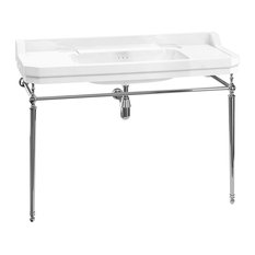 Burlington Edwardian 120 cm Basin Wash Stand Chrome Plated Brass Fittings