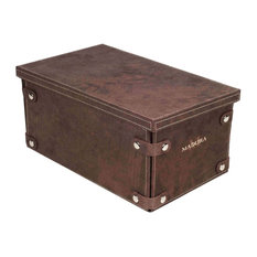 "Foldable Box Montana, Brown, 15""x13""x5.9"""