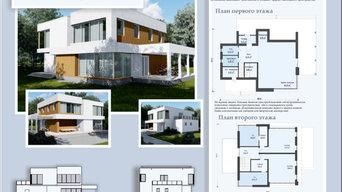 Проект дома в стиле хайтек