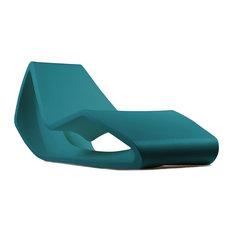 Organic Modern Chaise Longue, Water Blue