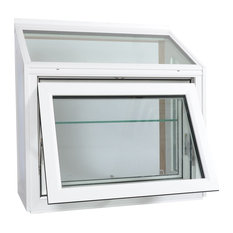 """Meadow View Garden Window White, 42""""x48"""", Laminated Seat Board, Low-E Insulated"""