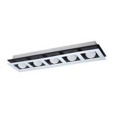 LED Ceiling Light With Brushed Aluminum and Black Finish