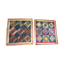 Mogulinterior - Mogul Sofa Cushion Covers Vintage Sari Border Patchwork Bohemian Pillow Cases - Pillowcases and Shams