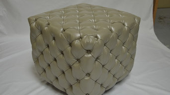 Custom Upholstered Tufted Cubes