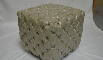 Custom Upholstered Tufted Cubes