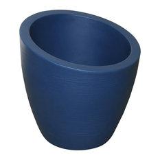 "Mayne Modesto 20"" Outdoor Planters, Neptune Blue"