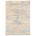 Rug & Home - Pebbles L 104 Ivory Rug, Rectangle 8'x10', Ivory, 8'x10' - Rug and Home is reinventing traditional motifs with creative colorations and a smoldering blend of smoky hues. These designs give the effect of a rug that has been walked on and lovingly worn in certain areas  almost like your favorite pair of blue jeans! These work well in both modern as well as transitional spaces  distinctive and an unquestionable statement maker. Hand knotted from luxurious wool and/or bamboo viscose and infused with de-saturated colors  they are sure to create a sense of awe!