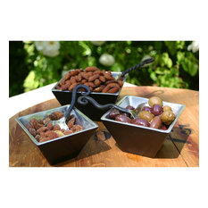 Elk Serving Bowls (Set Of 3) BOWL001/S3, Black, Food-Safe