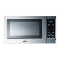 Summit Appliance - Stainless Steel Microwave Oven With Digital Controls; SCM853 - Microwave Ovens