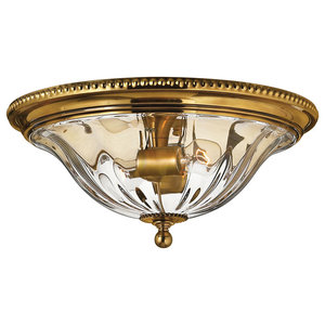 Cambridge Solid Brass Flush Ceiling Light