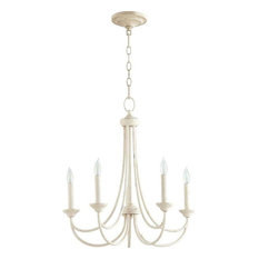 Five Light Persian White Up Chandelier