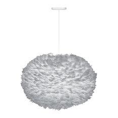 Eos X-Large Hardwired Pendant, White/Gray