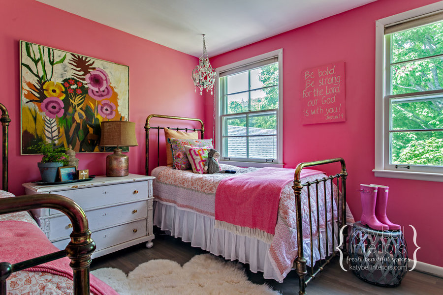Happy Pink Girl's Bedroom