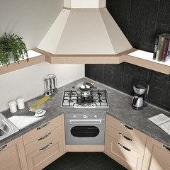 cucina con piano cottura ad angolo ✅ Homelook