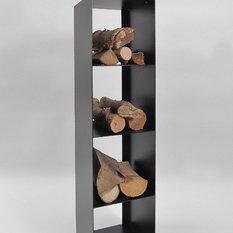 Brennholzregal innenbereich  Moderne Kaminholzregale: Brennholzregale, Kaminholzkörbe | HOUZZ