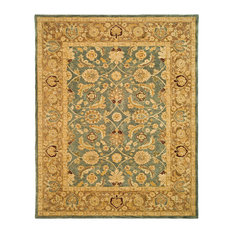 Safavieh Madeline Hand Tufted Rug, Teal Blue and Taupe, 12'x15'