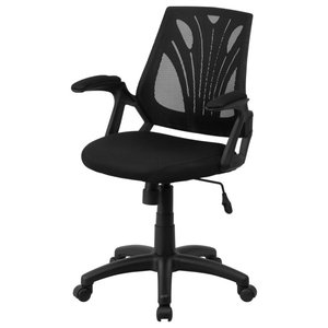 Delacora FF-GO-WY-82 25.25 Inch Wide Fabric Swivel Task Chair with Mesh Back