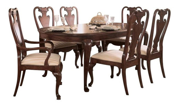American Drew Cherry Grove 7-Piece Leg Dining Room Set in Antique ...