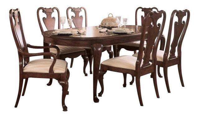 American Drew Cherry Grove 7-Piece Leg Dining Room Set in Antique ...