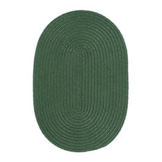 Colonial Mills, Inc - Colonial Mills Boca Raton BR62 Myrtle Green 9' x 12' Oval - Outdoor Rugs