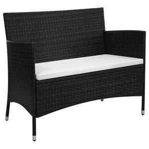 Tremendous International Caravan Barcelona Patio Storage Bench In Dailytribune Chair Design For Home Dailytribuneorg
