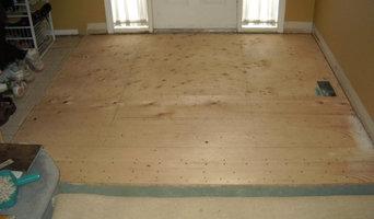 Slate tile entrance way - subfloor installed